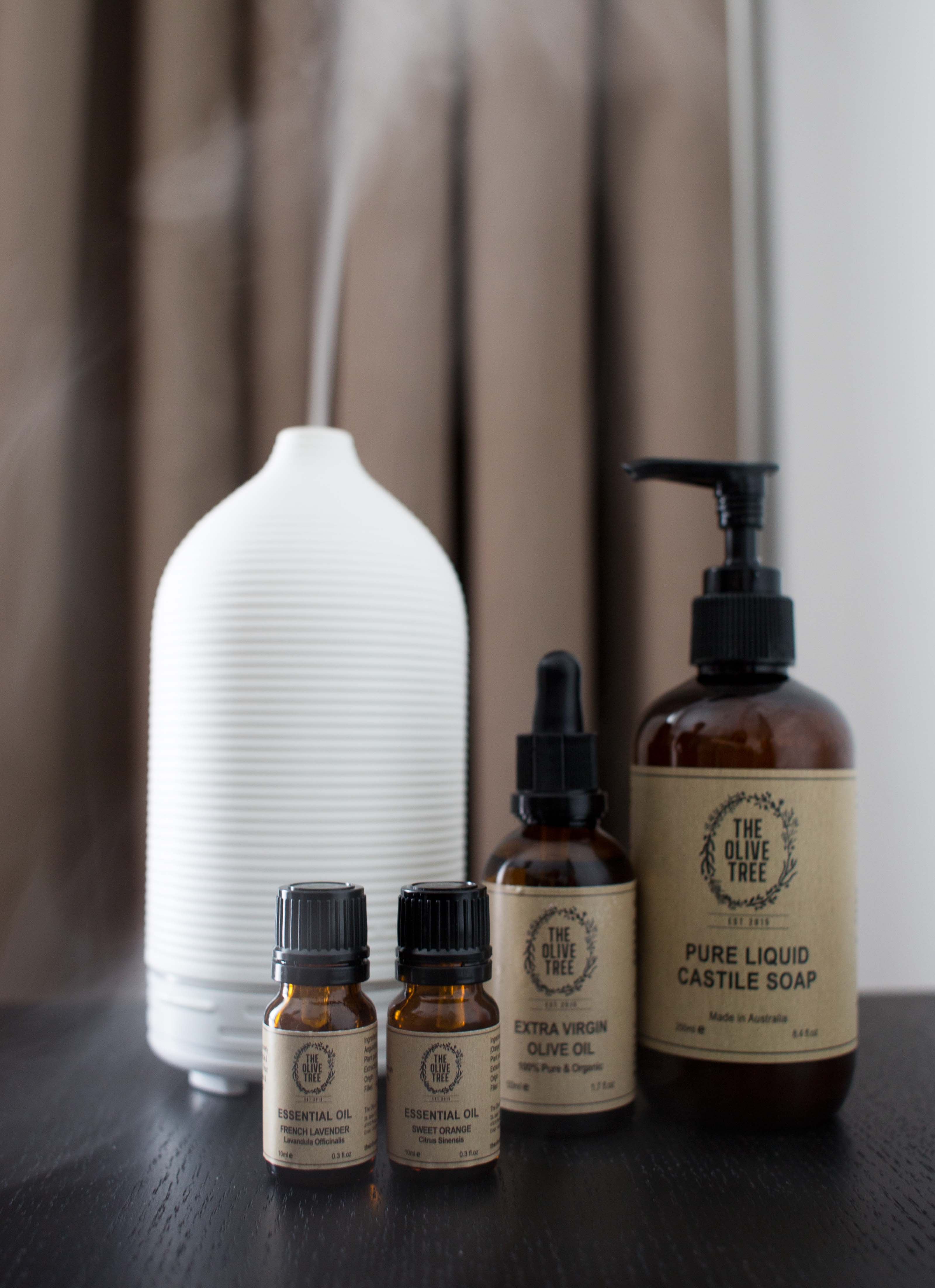 The Olive Tree Essential Oils & Diffuser