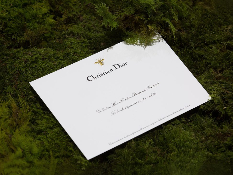 Dior Couture Invitation Card